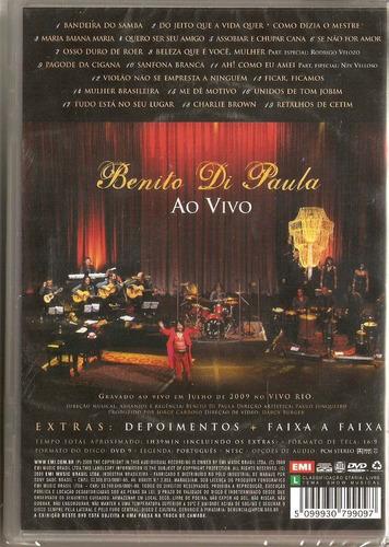dvd benito di paula - ao vivo - novo***