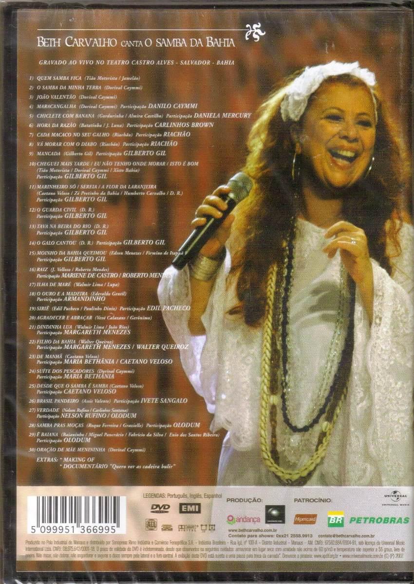 dvd beth carvalho canta o samba da bahia