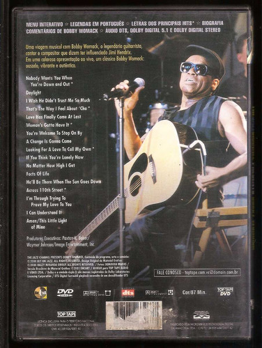 dvd bobby womack - the jazz channel presents