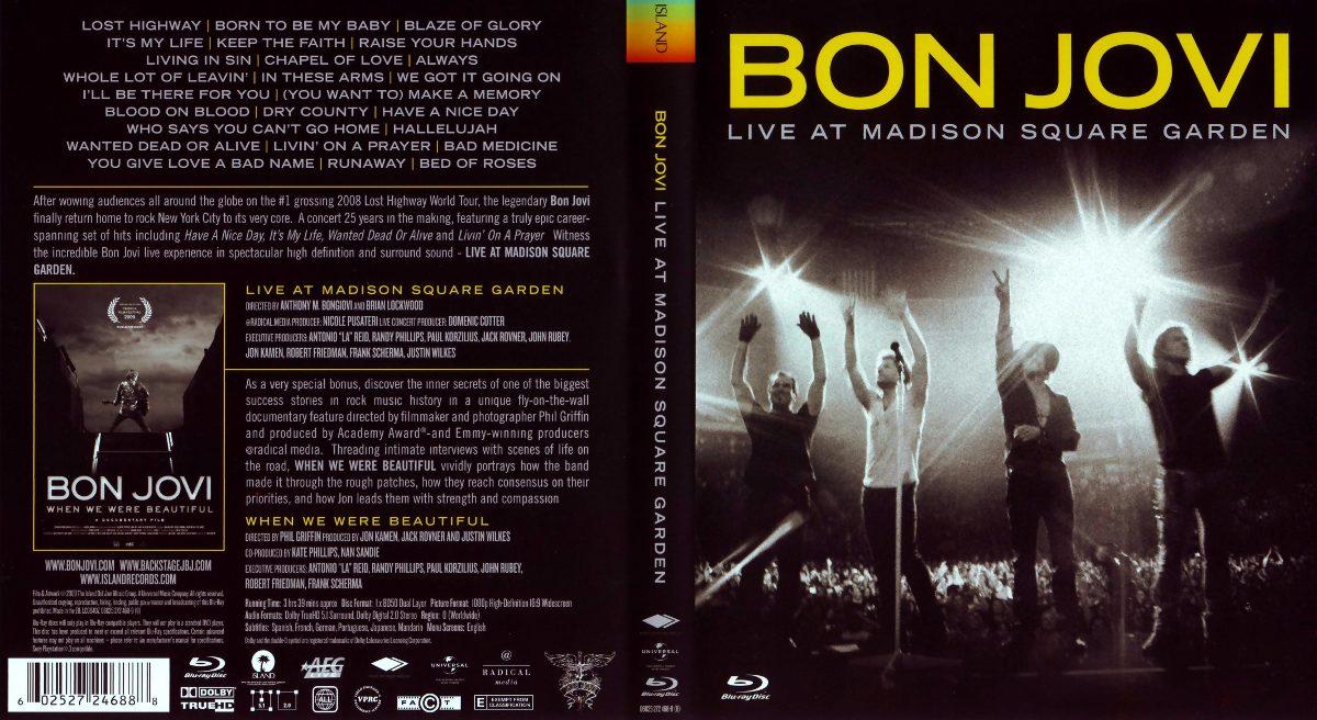 Dvd bon jovi live at madison square garden frete gr tis r 18 00 em mercado livre for Bon jovi madison square garden april 13