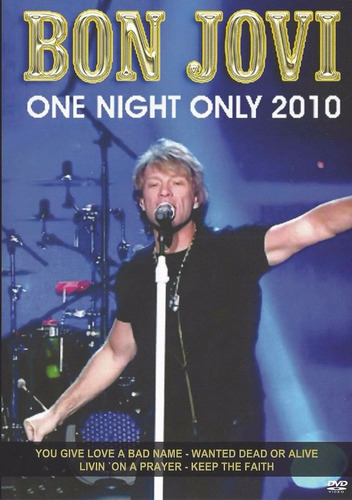 dvd bon jovi one night only 2010 original