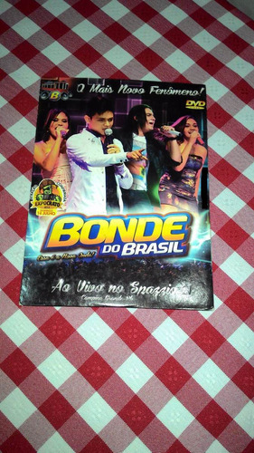 dvd bonde do brasil ao vivo no spazzio pb + frete grátis