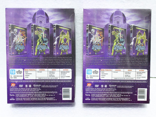 dvd box 4 - cavaleiros do zodiaco omega segunda temporada