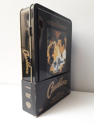 dvd box casablanca edição especial deluxe lata colecionador