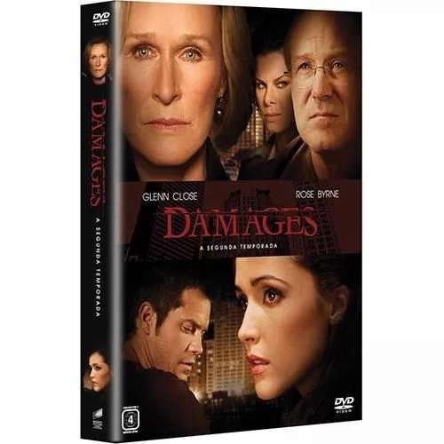 dvd box - damages - 2ª temporada completa - dublada - 3 dvds