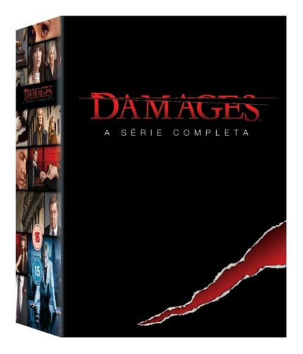 dvd box damages - a série completa - 15 discos - original