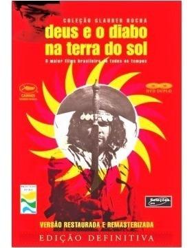 dvd box glauber com 4 filmes + dvd deus e o diabo separado