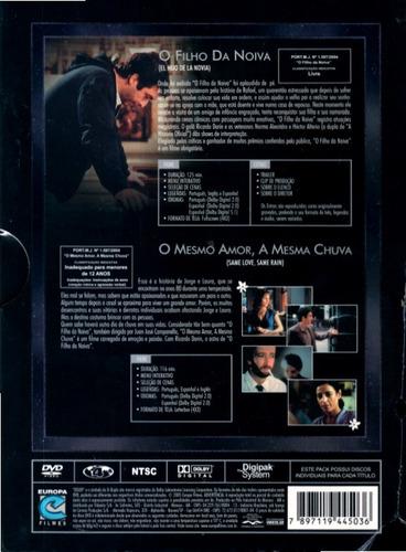 dvd box ricardo darin: o filho da noiva + o mesmo amor...