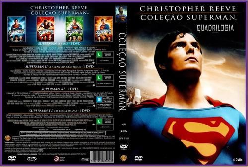 dvd box só coleção - superman - batman - 8 dvds