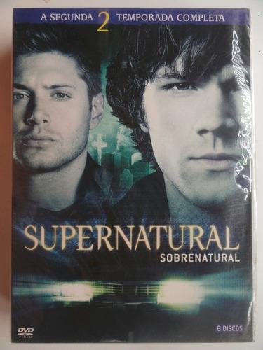 dvd box supernatural  2ª temporada completa - novo e lacrado