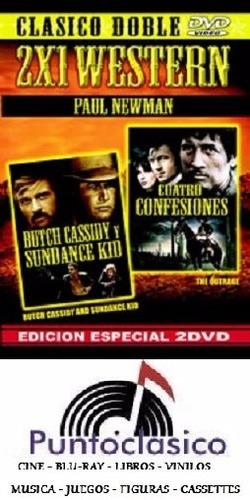 dvd - butch cassidy y sundance kid + cuatro - paul newman