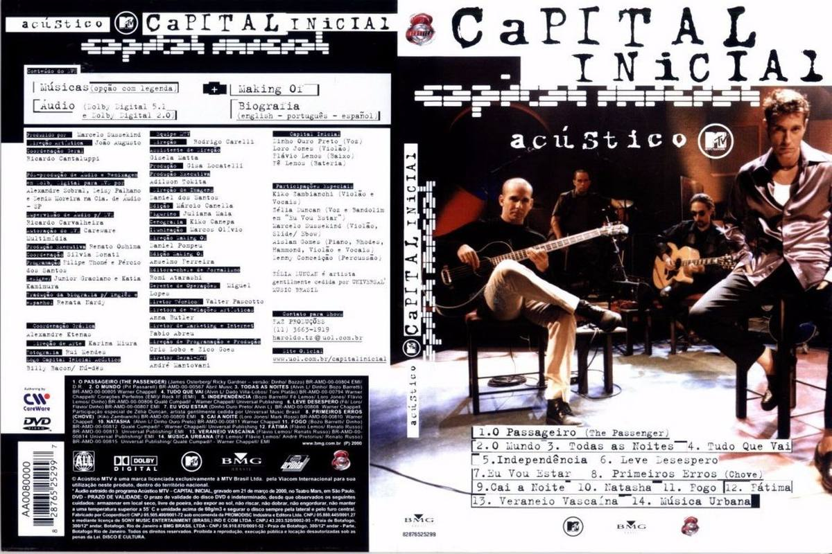 dvd capital inicial acustico mtv