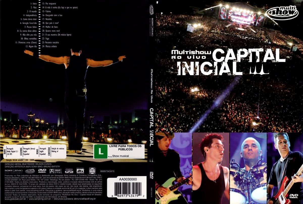 dvd capital inicial multishow