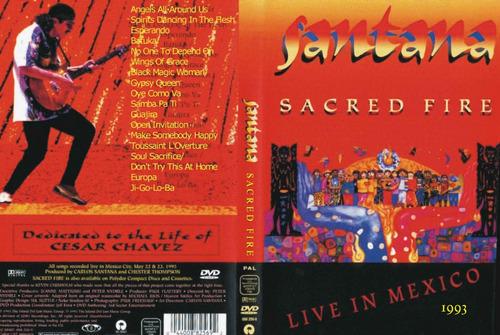 dvd carlos santana sacred fire - live from mexico