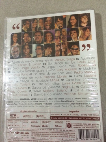 dvd casa da bossa-homenagem a tom jobim/lacre de fábrica, o,
