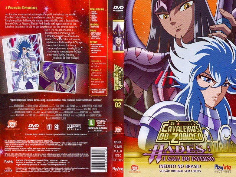 cavaleiros do zodiaco saga de hades em dvd-r