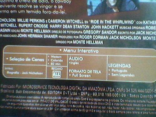 dvd cavalgada no vento - legendado - com jack nicholson