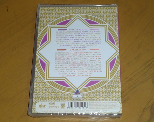 dvd + cd ace of base greatest hits - 17 videos + 21 tracks