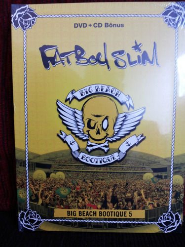 dvd + cd bônus fat boy slim big beach bootique 5 (lacrado)