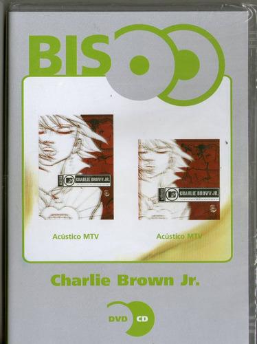 dvd + cd charlie brown jr - acústivo mtv ( bis ) - novo***