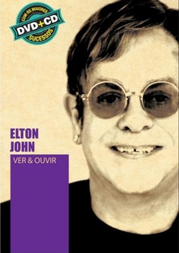 dvd+cd elton jonh - ver e ouvir / maiores sucessos (990605)