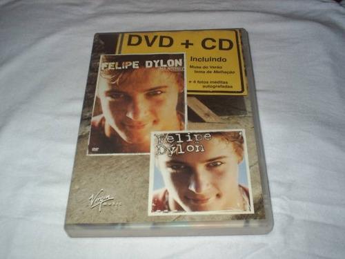 dvd + cd felipe dylon nas internas com encarte e fotos
