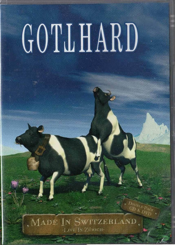 dvd + cd- gotthard- made in switzerland- live in zurich- lac