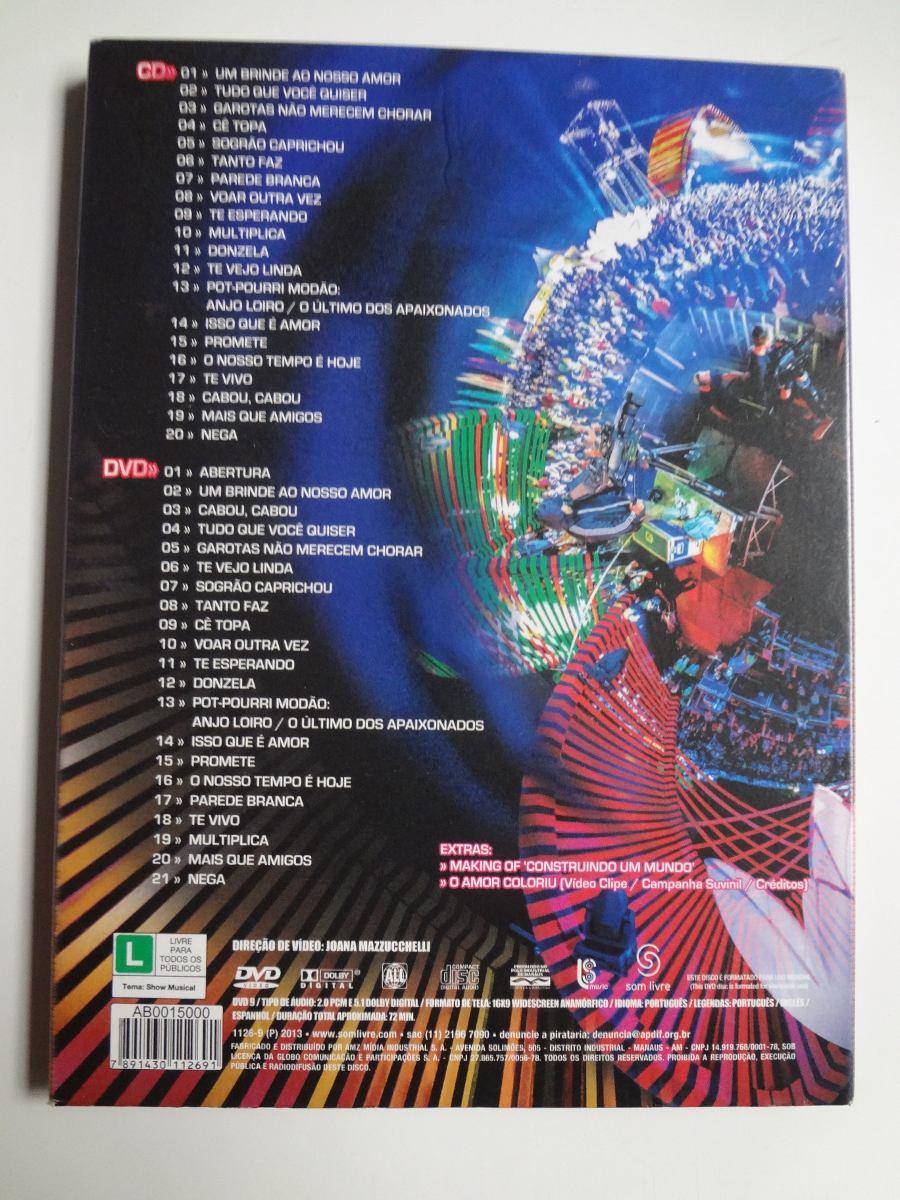 Dvd + Cd Luan Santana O Nosso Tempo É Hoje - R$ 29,29 em