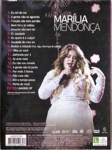 dvd+cd marília mendonça - realidade ao vivo em manaus - novo