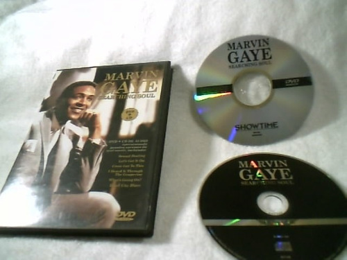 dvd + cd  ( marvin gaye -  searching soul )  ( impecável )
