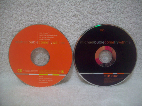 dvd + cd michael bublé- come fly with me