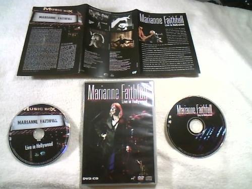 dvd + cd originais ( mariane faithfull - live in hollywood )