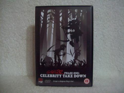 dvd + cd original gorillaz- phase one: celebrity take down