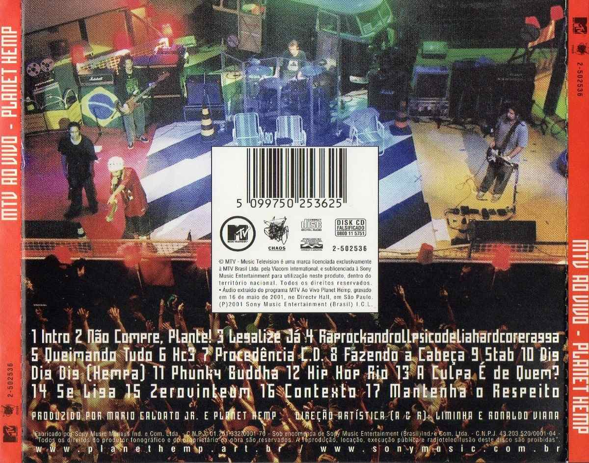cd completo planet hemp mtv ao vivo