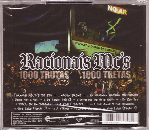 dvd do racionais 1000 trutas 1000 tretas gratis