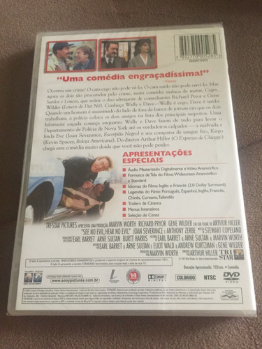 dvd cegos, surdos e loucos (lacrado), com richard pryor