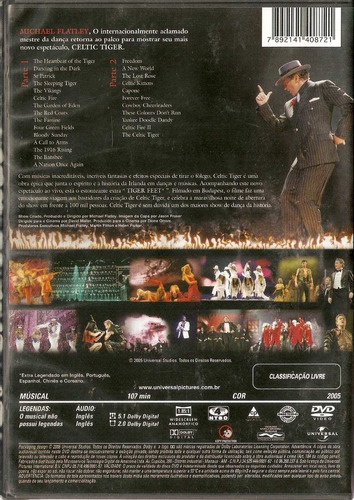 dvd celtic tiger - michael flatley - novo***