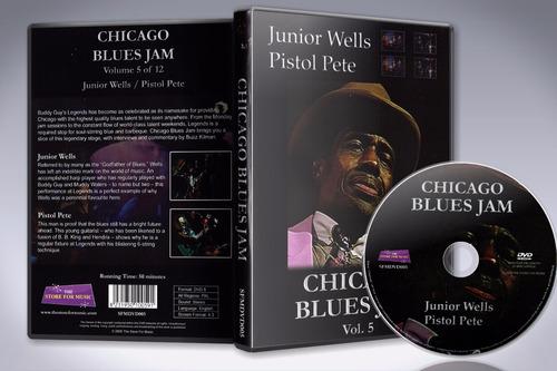 dvd chicago blues jam vol. 5 - junior wells & pistol pete