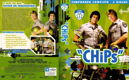 dvd chips - serie dublada digital ( 4 temporadas box )