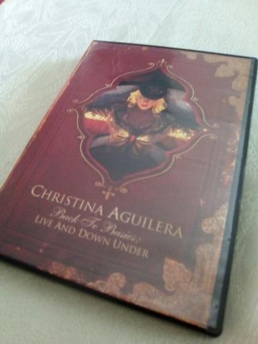 dvd christina aguilera back to basics live down under(nuevo)