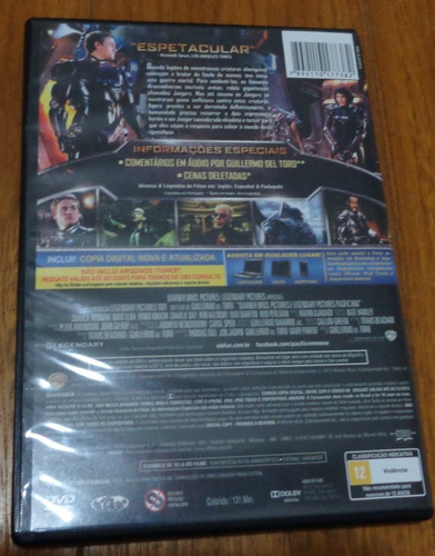 dvd circulo de fogo com tag e corrente para pescoço