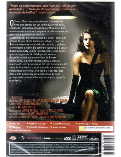 dvd classicline os assassinos (1946) - bonellihq cx355 j18