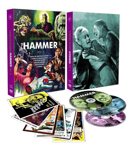 dvd colecao estudio hammer vol 3 c/cards - opc bonellihq g19