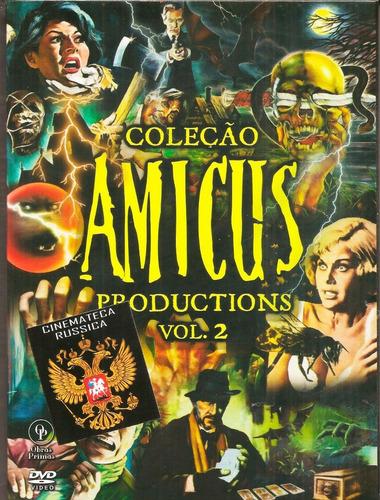 dvd coleção amicus vol.2 digistack 3 dvds 6 filmes e cards +