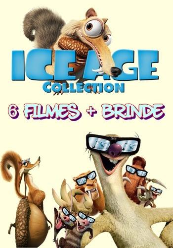 dvd coleção de filmes a era do gelo + brinde