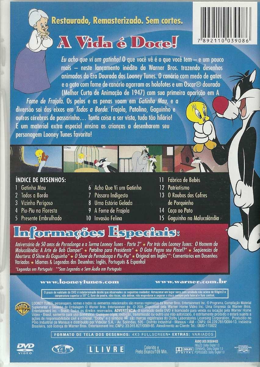 dvd coleção looney tunes aventuras com piu piu e frajola r 42 00