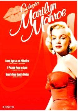 dvd coleção marilyn monroe 3 filmes - 3 discos 321 minutos +