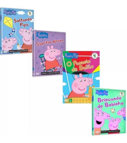 dvd - coleção peppa pig - 112 episódios completos desenhos