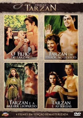 dvd coleção tarzan 3 dvds com 12 filmes -  frete grátis +