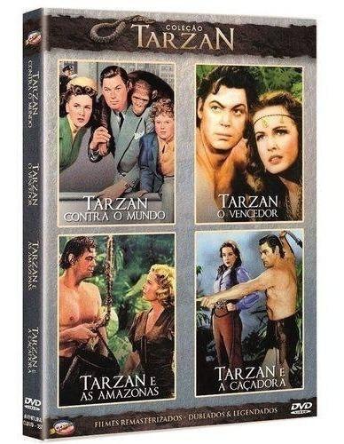 dvd coleção tarzan - volume 3, 2 discos 4 filmes  +